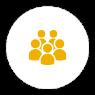 ikoni, jossa ryhmä ihmisiä