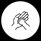ikoni jossa kaksi kättä päällekkäin
