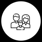 ikoni, jossa perhe